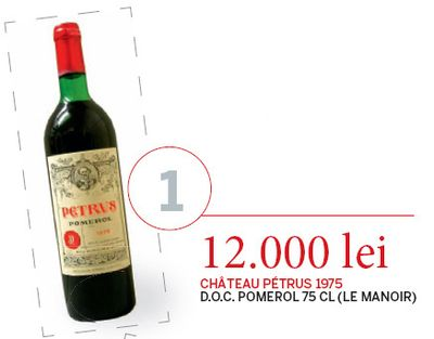 Cele mai scumpe vinuri vandute in Romania