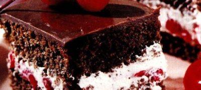 Prajitura cu visine si ciocolata