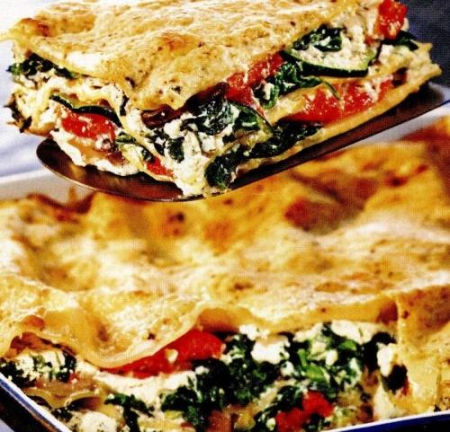 Lasagna de legume cu sos pesto