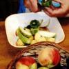 Desert cu salata de fructe si inghetata1
