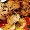 Mancare de ardei gras cu piept de pui