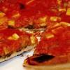 Pizza cu salată verde si costiţă afumată