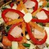 Salată cu murături si păstrav afumat