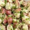 Salată de cartofi si scrumbie