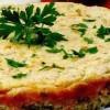Budincă de pâine cu legume si brânză de vaci