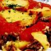 Musaca de cartofi copţi cu sos tomat
