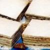 Prăjitură cu miere şi cremă de nucă