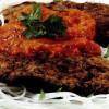 Pârjoale cu spaghete de orez şi sos de gogoşari