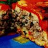 Sufleu de ardei copţi şi carne