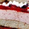 Tort cu crema si glazura de prune