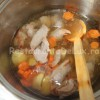 Ciorbă de fasole cu pui şi tarhon