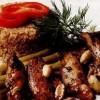 Porc cu sparanghel şi bulgur