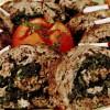 Ruladă din 3 feluri de carne tocată cu spanac