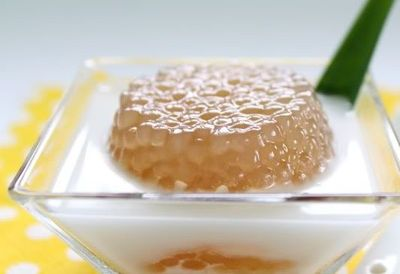 Budinca cu zahar de palmier - Sago gula melaka