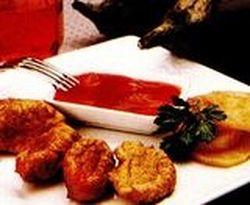 Chiftelute de vinete cu sos