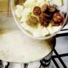 Ciorba de salata verde cu carnati afumati