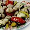 Grătar de legume cu ficăţei