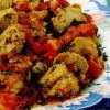 Mancare de gogosari copti cu soia