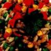 Orez cu legume si sos de soia