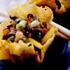 Rondele de parmezan umplute cu legume