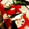 Salată de pepene rosu, branza feta si busuioc