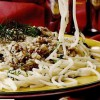 Spaghete cu smântână şi peşte