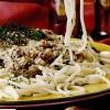 Spaghete cu smantana si peste