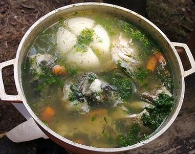Supă rusească de peşte, cu lămîie şi mărar – Uha
