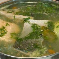 Supa ruseasca de peste cu lamaie si marar