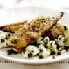 Macrou cu salata caldă de conopidă şi capere