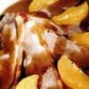 Muschi de porc cu cu sos si portocale
