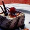 Mousse de ciocolată cu fructul pasiunii