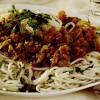 Spaghete cu ciuperci şi soia