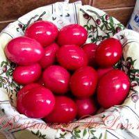 Oua rosii de Pasti