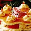 Prăjitură cu piersici şi trandafiri