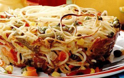 Spaghetti la cuptor cu legume mexicane