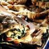 Lasagna cu branză de capră şi spanac
