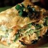 Lasagna cu varză creţă si somon proaspăt