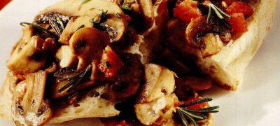 Mix de ciuperci cu ciabatta