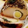 Muschi de porc umplut cu mazăre si ouă