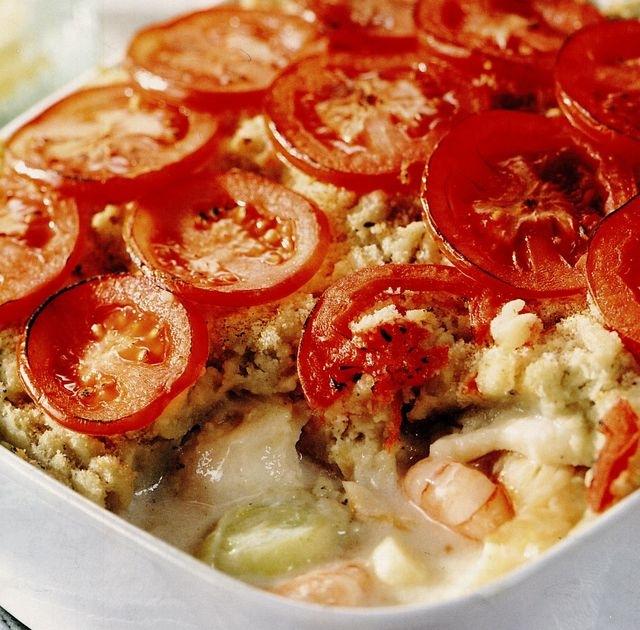 Рыбная запеканка с картофелем пюре в духовке рецепт