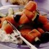 Salată de castraveţi şi pepene roşu