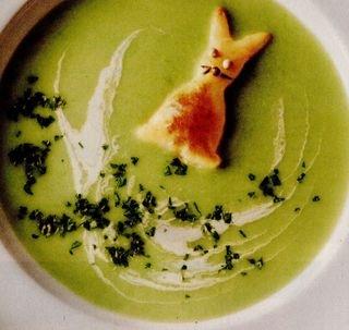 Supa-crema de mazare cu cascaval