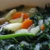 Retete de post: Supa de cartofi rosii si salata creata