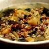 Supă deasă de grâu dur şi cartofi
