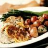Escalop de viţel cu sos de usturoi şi lămâie