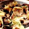 Pappardelle aromate cu ciuperci