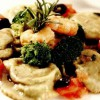Ravioli cu broccoli, creveţi si măsline