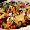 Ravioli reci cu legume şi ierburi aromatice