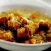 Supă de cartofi cu parmezan si crutoane
